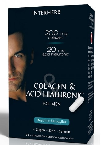 Colagen & Acid Hialuronic For Man Interherb - 30 capsule