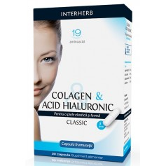 Colagen & Acid Hialuronic Clasic Interherb - 30 capsule