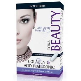 Colagen & Acid Hialuronic Extra Interherb - 30 capsule