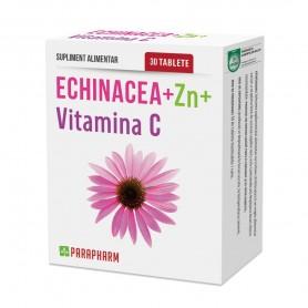 Echinacea + Zinc + Vitamina C, 30 tb, Parapharm