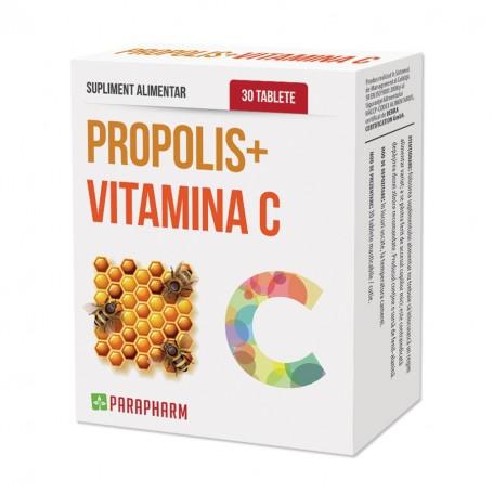 Propolis + Vitamina C, 30 tb Parapharm