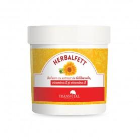 Herbalfett, Balsam cu extract de Galbenele, Vitamina E si vitamina A, 250 ML