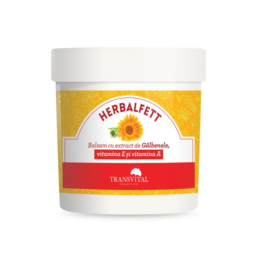 Herbalfett - Balsam cu extract de Galbenele, vitamina E si vitamina A