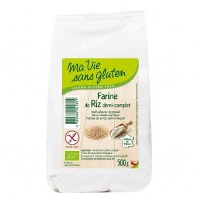 Faina de orez semiintegral - fara gluten 500g