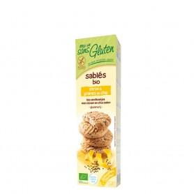 Biscuiti fara gluten cu lamaie si chia 150g