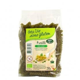 Fusilli bio mazare verde - fara gluten 250g