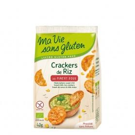 Crackers din orez cu ardei dulce- fara gluten 40g
