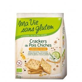 Crackers cu naut, curcuma si piper - fara gluten 100g