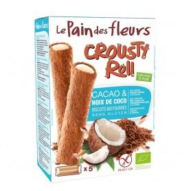 Crousty Roll cu cacao și cocos - fara gluten 125g