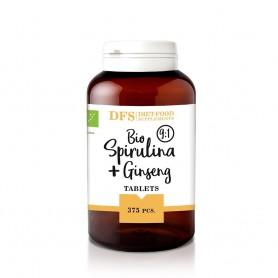 Bio Spirulina + Ginseng - 375 tablete bio x 400mg - 150 g