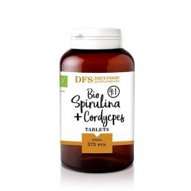 Bio Spirulina + cordyceps - 375 tablete bio x 400mg - 150g