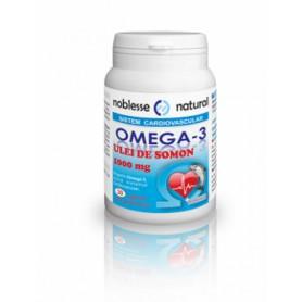 Omega 3 Ulei de Somon 1000mg +Vitamina E -30 cps Noblesse Natural