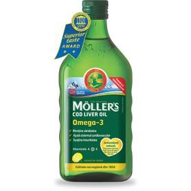 Ulei din Ficat de Cod Omega 3 Moller's Orkla Health - 250 ML