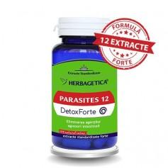 Parasites 12 Detox Forte Herbagetica - 60 capsule