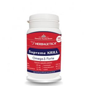 Supreme Krill Omega 3 Forte Herbagetica - 30 capsule