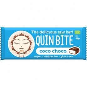 Baton Organic cu Cocos si Ciocolata Quin Bite 30gr