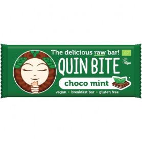 Baton Organic cu Ciocolata si Menta Quin Bite 30gr