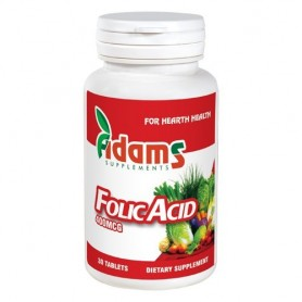 Acid Folic 400mcg 30tab Adams Supplements