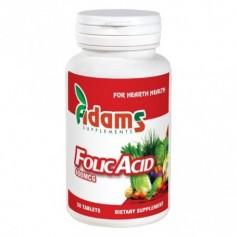 Acid Folic 400mcg 30tab Adams Supplements