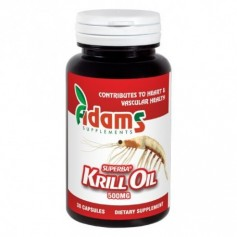 Krill Oil, 500mg, 30cps, Adams Supplements