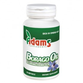 Borago Oil 1000mg 30cps. Adams Supplements