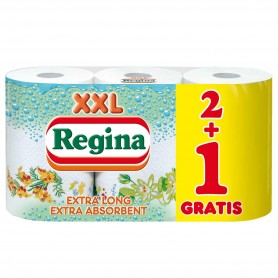 Prosop Hartie Regina Xxl, 2+1 Role, 2 Straturi