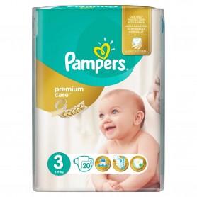 Scutece Pampers Premium Care 3 Midi Small Pack 20 Buc
