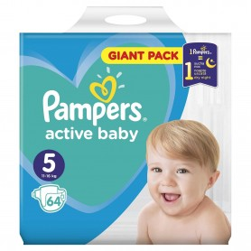 Scutece Pampers Active Baby 5 Giant Pack 64 Buc