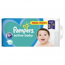 Scutece Pampers Active Baby 4+ Mega Box 120 Buc