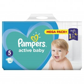 Scutece Pampers Active Baby 5 Mega Box 110 Buc