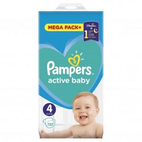 Scutece Pampers Active Baby 4 Mega Box 132 Buc