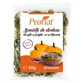 Seminte de Dovleac Decojite si Prajite cu Scortisoara Pronat - 50 g