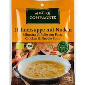 Supa Bio de Pui cu Taitei Natur Compagnie - 40 g
