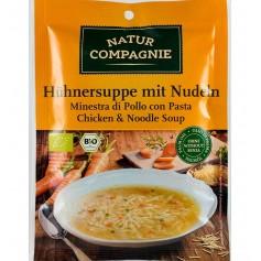 Supa Bio de Pui cu Taitei, 40 g Natur Compagnie