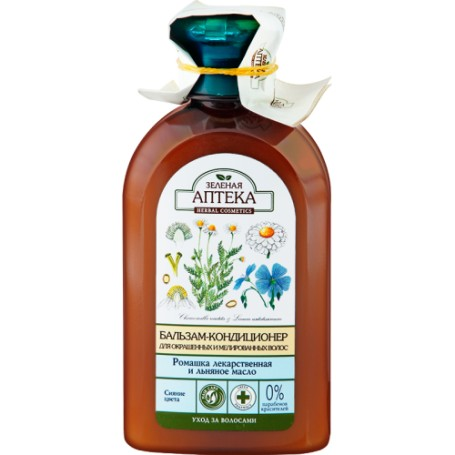 Balsam Pentru Par Vopsit cu Extract de Musetel si Ulei de In - 300 ML