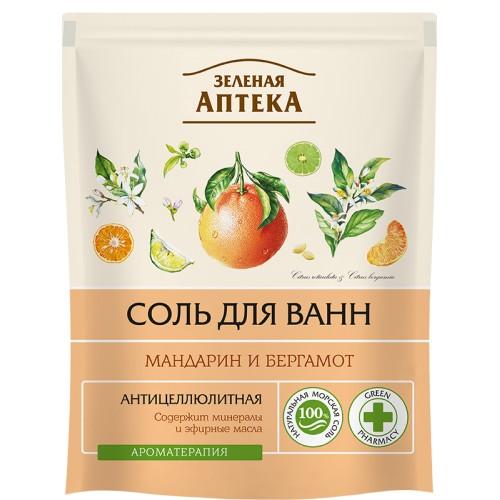 Sare de Baie Anticelulitica cu Uleiuri de Mandarina si Bergamota - 500 G
