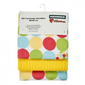 Set 3 Prosoape Microfibra - Yellow