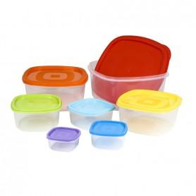 Set 7 Caserole Aliment Cu Capace,Rainbow