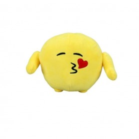 Jucarie De Plus Emoticon Face Throwing A Kiss, 18 Cm