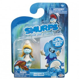 Jucarii - Set 2 Strumfi- Smurfette Si Smurfblossom