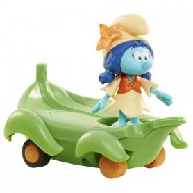 Smurflily Si Vehicul Frunza, 5.7 Cm