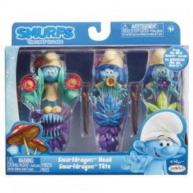 Blister Strumfi- 3 Figurine Cu Masca Si Toiag