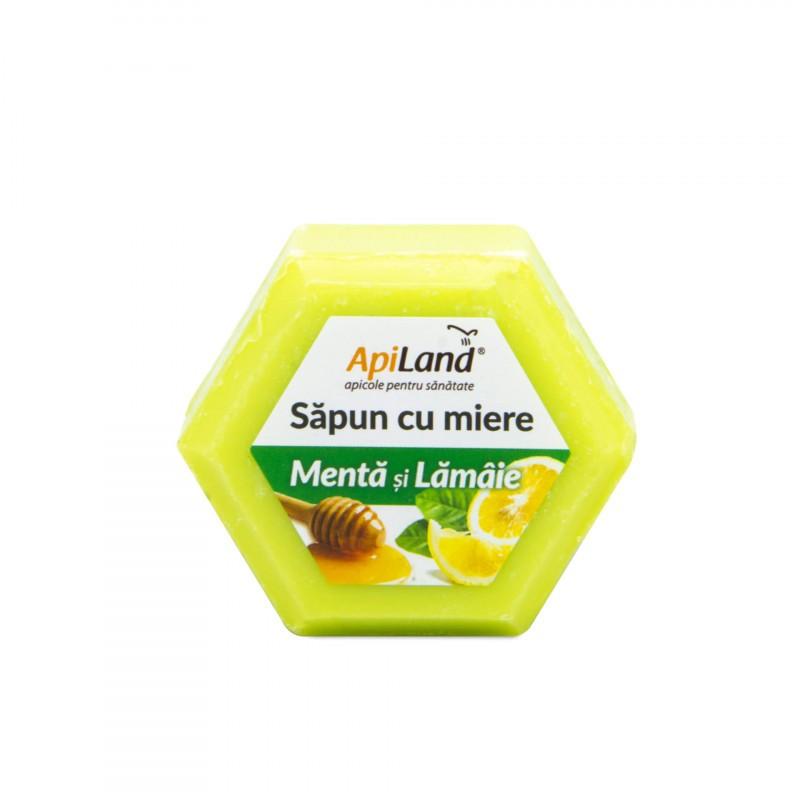 Sapun cu Miere, Menta si Lamaie Apiland - 100 g