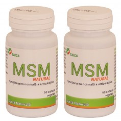 MSM Natural Oferta 2 bucati a cate 60 Capsule Vegetale
