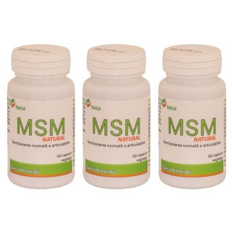 MSM Natural Oferta 3 bucati a cate 60 Capsule Vegetale