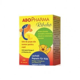 Ribcho Ulei de Peste din Somon pt.copii Abo Pharma 100 cps