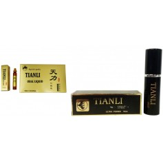 Pachet Super Potenta TianLi 6 Fiole Capac Auriu +Tianli Spray Ultra Power 10 ml