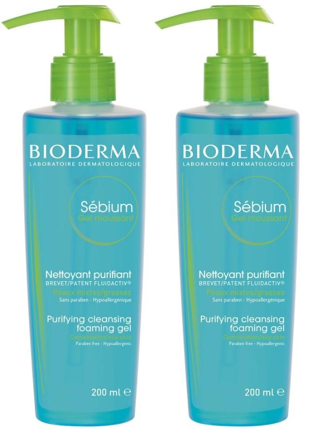 Pachet 2X Sebium Gel Spumant Bioderma - 200 ML