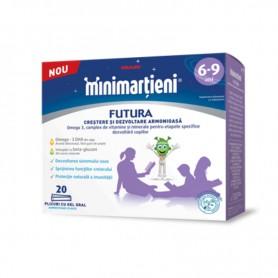 Minimartieni Futura 6-9 ani Walmark - 20 plicuri cu gel oral