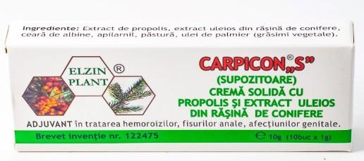 Carpicon S, Supozitoare, Elzin Plant, 10 g